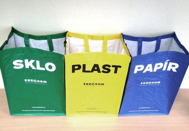 Tašky na třídění do domácností