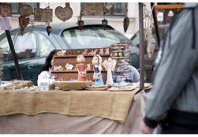 Stánkový prodej na Svatováclavských hodech