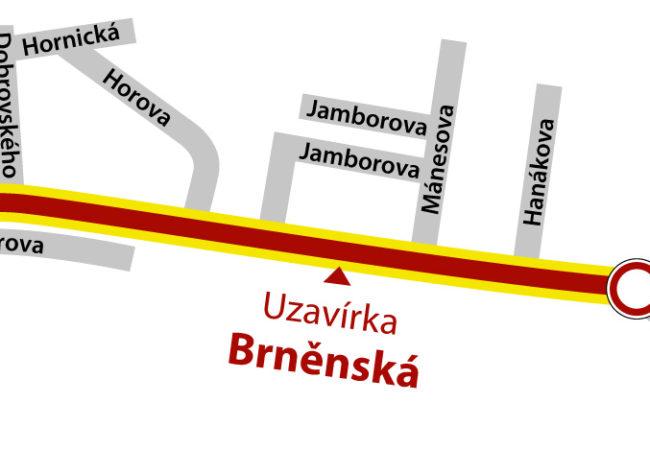 Dopravní omezení v ulici Brněnská