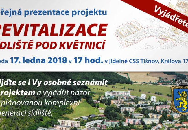 Veřejná prezentace projektu Revitalizace sídliště Pod Květnicí