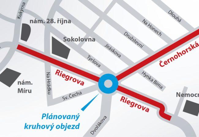 Zahájení rekonstrukce v ulicích Riegrova a Černohorská