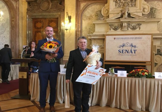 Druhé místo v soutěži Oranžová stuha ČR 2018 pro Obec Borovník