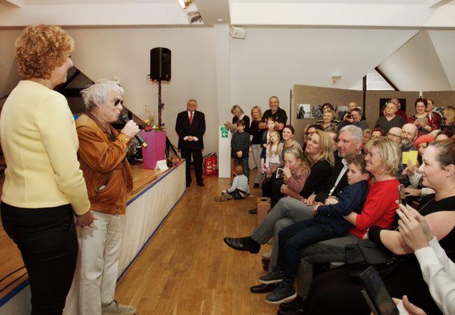 Výstavu si užil Jan Saudek inávštěvníci