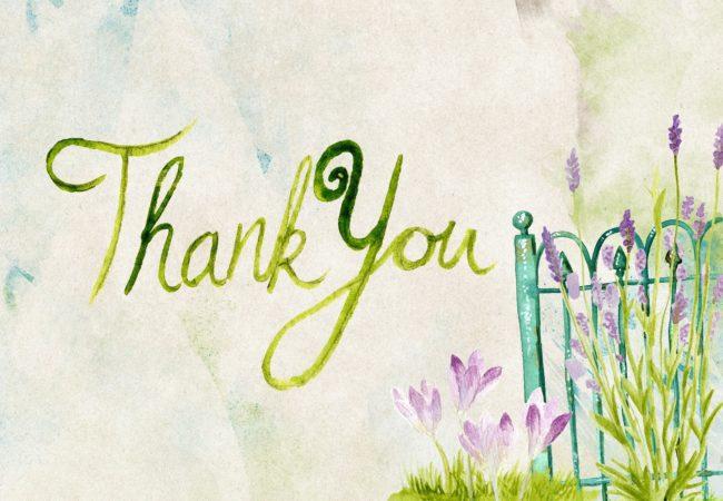 Poděkování personálu kavárny