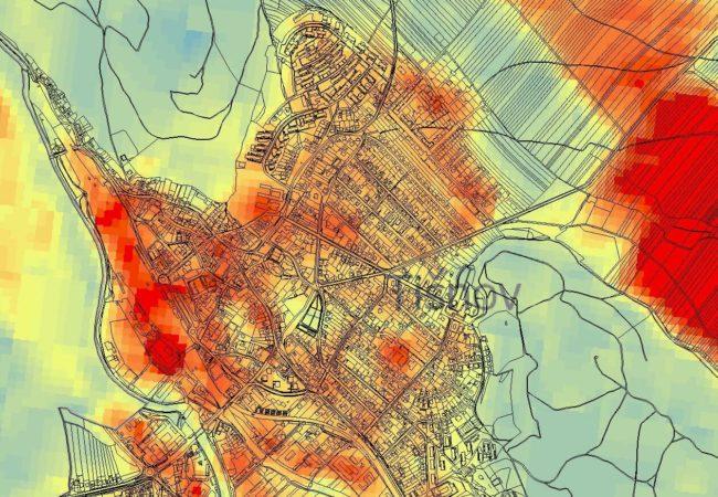 Zastavěné území města Tišnova